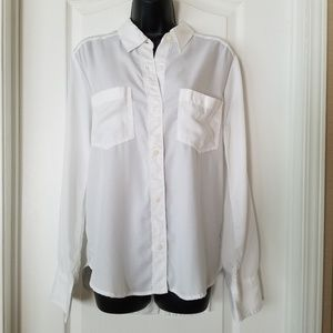 Abercrombie & Fitch white button up shirt
